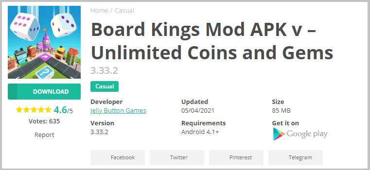 Download board kings mod
